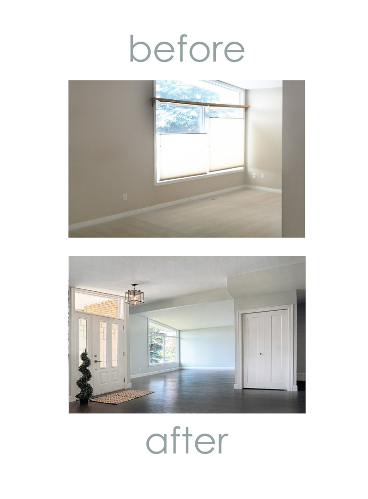 before and after home renovation yeg house of j interior design